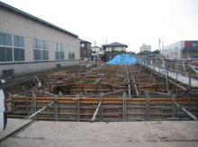 基礎のコンクリート打設前の現場